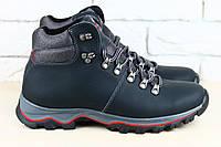 Кожаные ботинки на меху ECCO, цвет синий