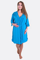Яркий женский комплект для дома халат+ночнушка