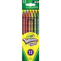 Цветные карандаши Crayola Twistables (выкручивающиеся), 12 цветов, крайола