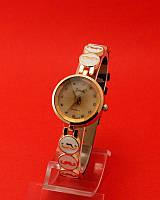 """Женские наручные часы с золотым корпусом и тонким ремешком """"Атрибут эмаль"""""""