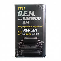 Моторное масло Mannol O.E.M. for Daewoo GM SAE 5W-40 A3/B4 4 л Metal, фото 1