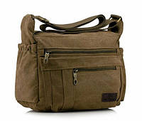 Сумка мужская брезентовая органайзер под А4, сумка мужская через плечо, смотрите видеообзор!