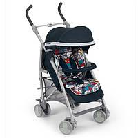 Прогулочная коляска-трость CAM Microair 848/22 ,черная с цветным матрасиком