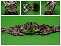 """Женские наручные часы с оригинальным цветастым кожаным ремешком """"Аврора"""""""