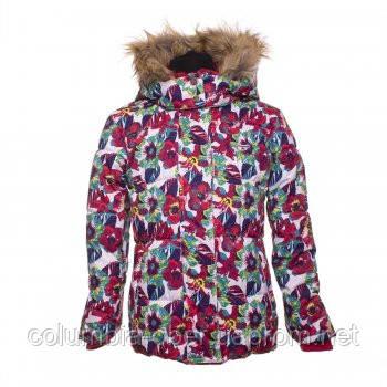 Зимняя куртка для девочки Gusti ZWG 3224 HIBISCUS. Размер 140.