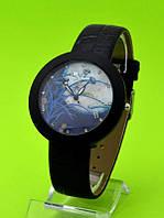 """Женские наручные часы на кожаном ремешке """"Ночной пейзаж"""""""