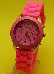 """Наручные часы на силиконовом ремешке """"Бонифачо"""", розовые"""