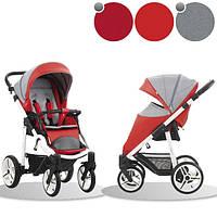 Детская прогулочная коляска Bebetto Nico SL219 красный с серым (503.23.16.SL219)