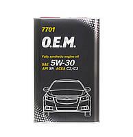 Моторное масло Mannol O.E.M. for Chevrolet Opel SAE 5W-30 C2 C3 4 л Metal