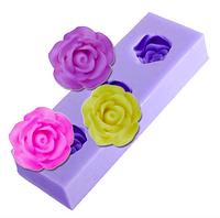 """Молд силиконовый """"Три маленькие розы"""""""