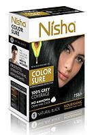 Безамиачная стойкая крем-краска для волос TM Nisha с маслом авокадо Черная №1