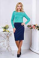 Элегантный женский костюм  Клер  минт 44-50 размеры