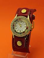 """Женские наручные часы на широком кожаном ремешке """"Барокко"""""""