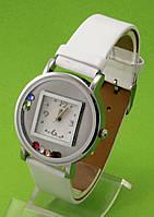 """Женские наручные часы с белым кожаным ремешком """"Фаэтон"""""""