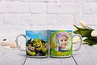 Мультяшная чашка с фото для ребенка