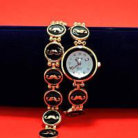 """Наручные часы на металлическом браслете """"Атрибут"""", золото"""