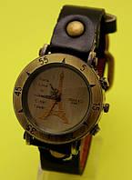 """Наручные часы в винтажном стиле на коричневом кожаном ремешке """"Корте"""""""