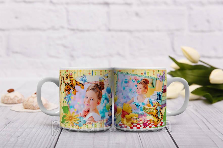 Веселая чашка для Вашего ребенка. Фото на чашке