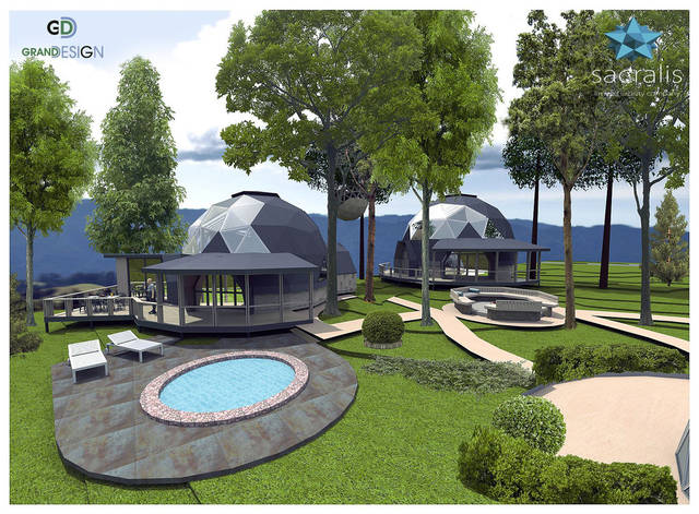 Планировку купольных домов смотрите в разделе Проекты домов свыше 200 м²