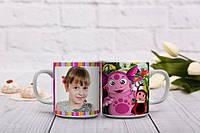 Мультяшная чашка с Лунтиком для доченьки