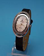 """Женские наручные часы с узким кожаным ремешком и стразами  """"Вернон"""""""