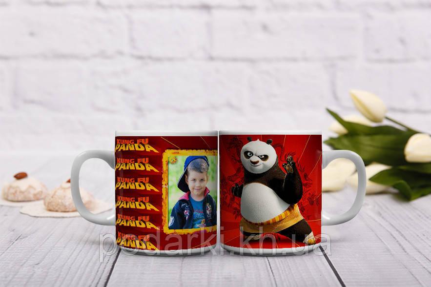 Мультяшная чашка KUNG FU PANDA  с фото Вашего ребенка