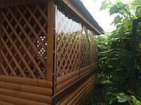 Шторы из ткани ПВХ для беседок, террас с прозрачными окнами и без окон