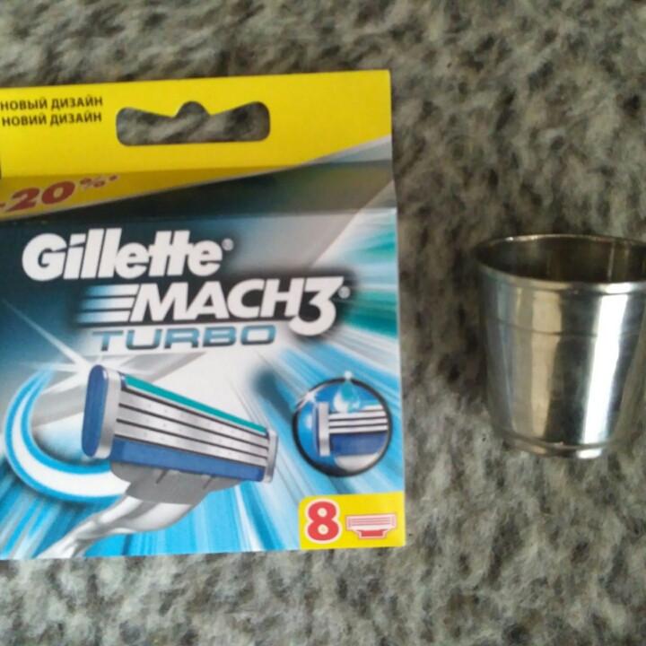 Картриджи, кассеты, лезвия  Gillette Mach 3 Turbo \ Жилет Мак 3 Турбо 8 шт
