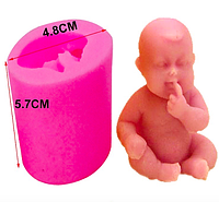 """Молд силиконовый """"Младенец сидит"""""""
