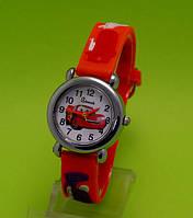 """Детские наручные часы с силиконовым ремешком """"Тачки"""", красные"""