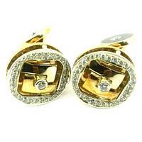 Золотые запонки с бриллиантом