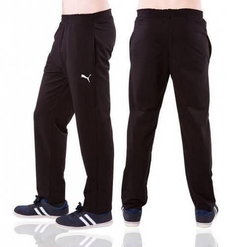 Спортивные штаны больших размеров Пума (Puma) мужские трикотажные черные баталы Украина