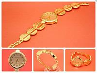 """Наручные часы на металлическом браслете """"Грасс"""", золото"""