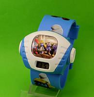 """Детские наручные часы """"Смурфики"""", синие"""