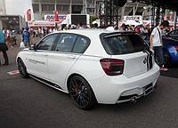 Диффузор задний бампер тюнинг обвес BMW F20 стиль M-Performance