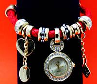 """Женские наручные часы-браслет """"Локри"""", стразы, бусины Пандора"""