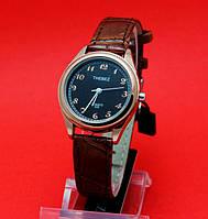"""Женские наручные часы с золотым корпусом и коричневым кожаным ремешком """"Аконибе"""""""