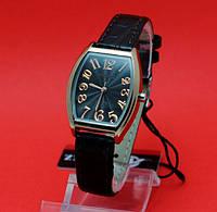 """Женские наручные часы с золотым корпусом и коричневым кожаным ремешком """"Аннаба"""""""