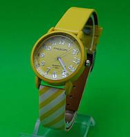 """Женские наручные часы с кожаным ремешком """"Полосатый рейс"""""""