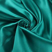 Ткань Атлас Бирюза зеленая