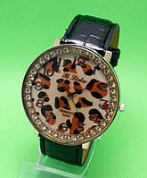 """Женские наручные часы с черным кожаным ремешком """"Ниоба нуар"""""""
