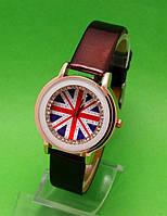 """Женские наручные часы с золотым корпусом и коричневым ремешком """"Вирджиния"""""""