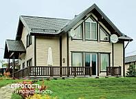Двоповерховий дерев'яний каркасний будинок 196 м2