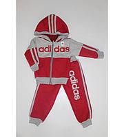Теплый Детский Спортивный Костюм Adidas Цвет Красный  Рост 74-110 см