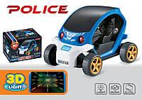 Машина муз. полицейская, батар., 3D свет,