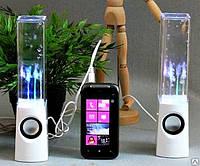 Колонки для компьютера с эффектом фонтана и LED подсветкой, фото 1