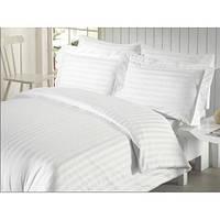 Двуспальный комплект постельного белья из страйп сатина (Европростынь)