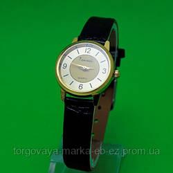 """Женские наручные часы с золотым корпусом и черным ремешком """"Барбастро"""""""