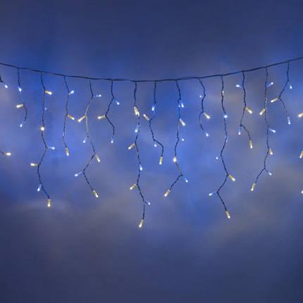 "Гирлянда ""Светодиодная бахрома"" 5х0,5м бело - голубой, фото 2"