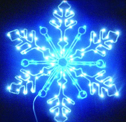 """Гирлянда """"Светодиодная снежинка"""" 61см, фото 2"""